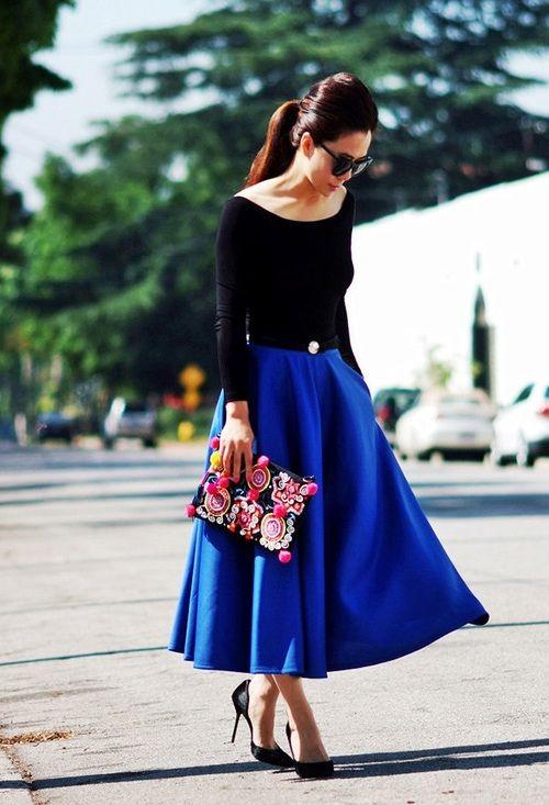 faldas midi