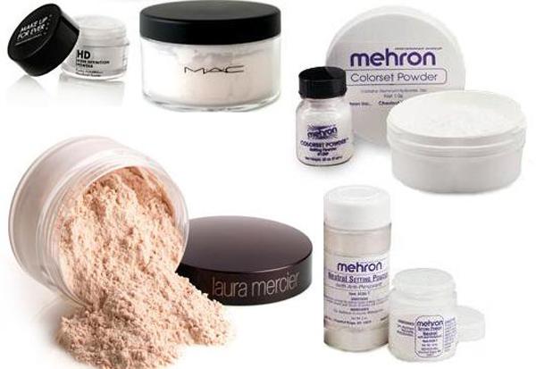 Consejos para eliminar los brillos de la piel polvos