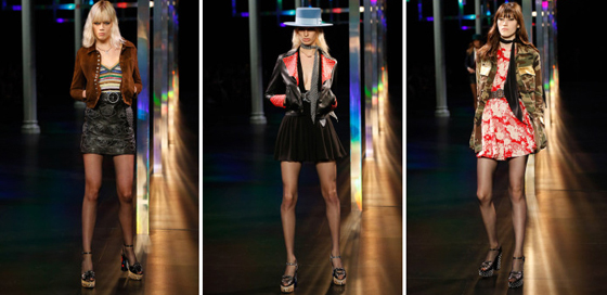 Desfile Saint Laurent en Paris Fashion Week SS 2015