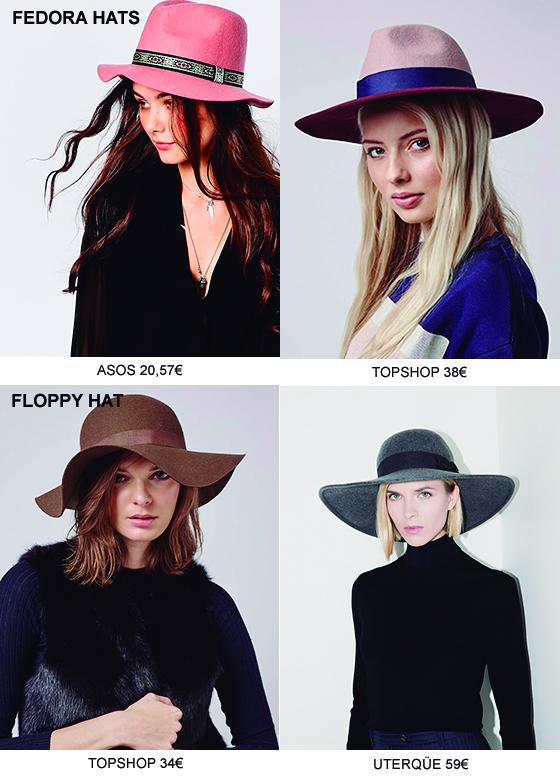 Tendencia, tres accesorios indispensables esta temporada,FEDORA Y FLOPPY HAT