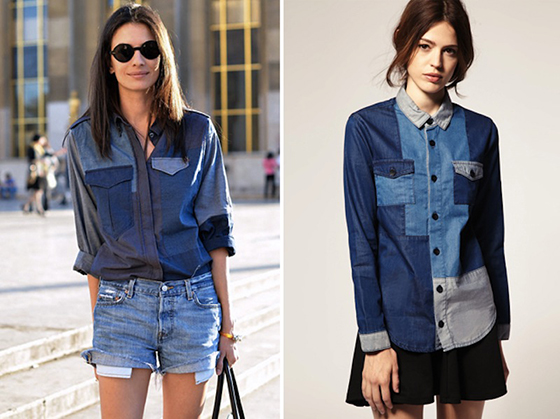 Tendencia patchwork. Denin Isabel Marant