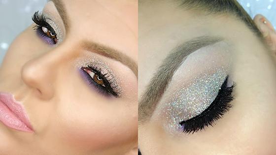 look Beauty Navideño, ideas glitter