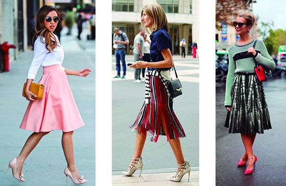 Buenos propósitos ,buenas tendencias,  falda midi