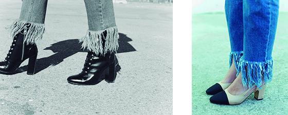 Streetstyle Fashion Weeks, deshilachados