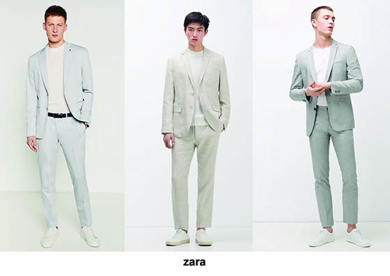 Tendencia trajes 2016, slim trajes tonos claros